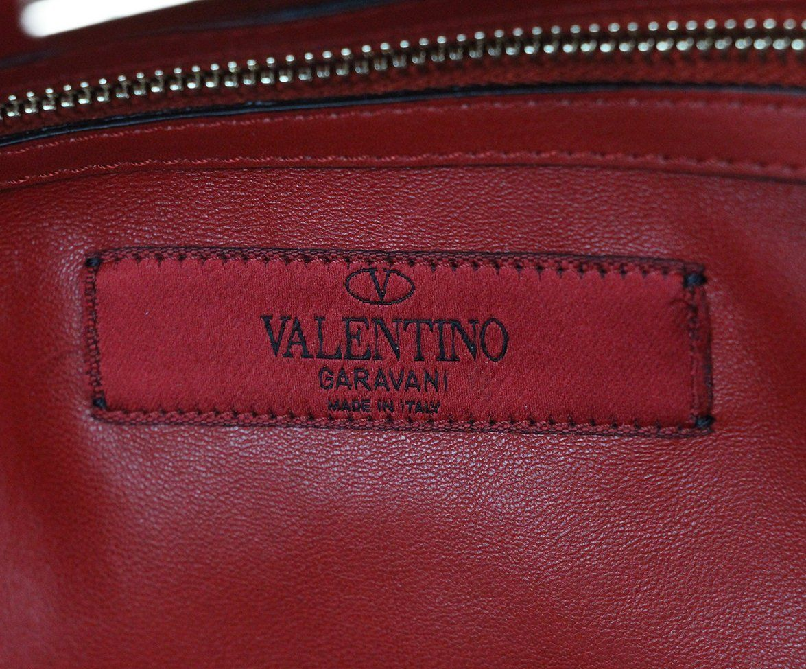 Valentino burgundy leather Tote 8