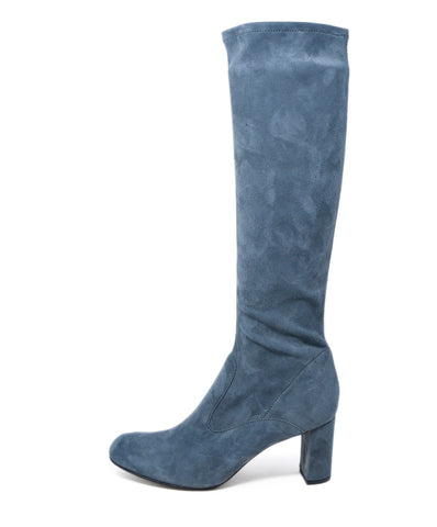 Valentino Grey Suede Knee High Boots 1