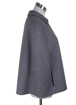 Poncho Valentino Grey Wool Outerwear 1