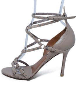 Valentino Neutral Tan Leather Grommet Sandals 2