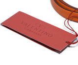Valentino Orange Leather Gold Buckle Belt 5