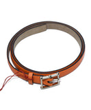 Valentino Orange Leather Gold Buckle Belt 2