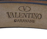 Valentino Orange Leather Gold Buckle Belt 3