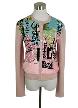 Valentino Pink Cardigan W/ Sequins 1