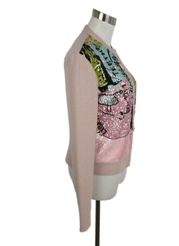 Valentino Pink Cardigan W/ Sequins 2