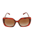 Valentino Red Plastic  Gold Trim Sunglasses 2