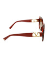 Valentino Red Plastic  Gold Trim Sunglasses 3
