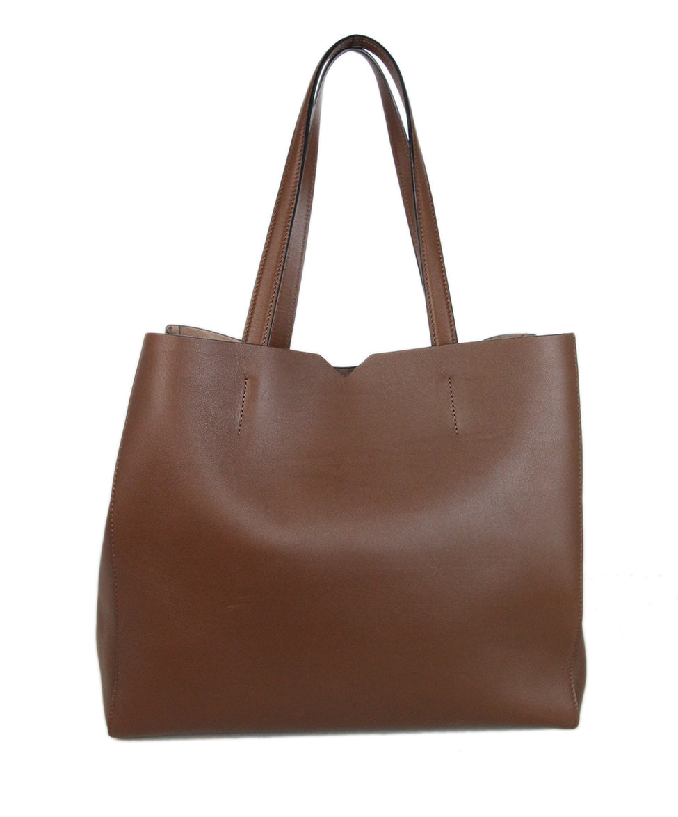 Valextra Brown leather tote 1