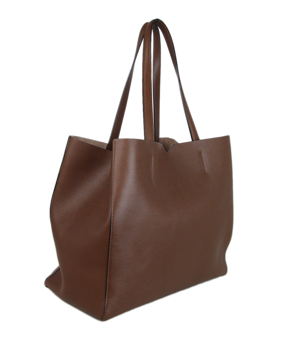 Valextra Brown leather tote 2
