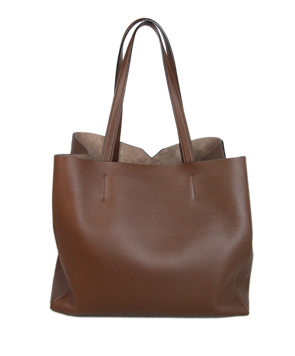 Valextra Brown leather tote 3