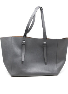 Valextra Grey Leather Tote Handbag