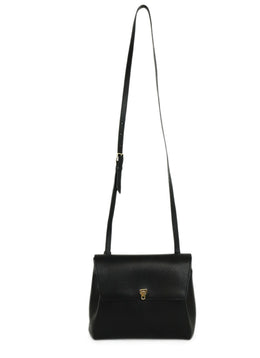 Valextra Black Leather Crossbody Handbag 1