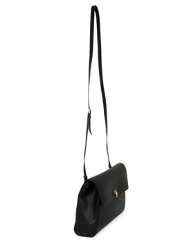 Valextra Black Leather Crossbody Handbag 3