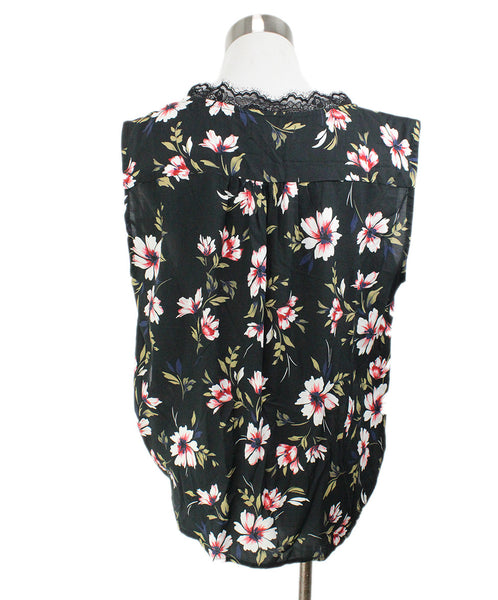 Velvet Black White Floral Viscose Top 3
