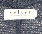 Velvet Navy Cotton Viscose Elastane Cardigan 4
