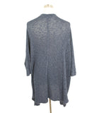 Velvet Navy Cotton Viscose Elastane Cardigan 3