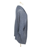 Velvet Navy Cotton Viscose Elastane Cardigan 2