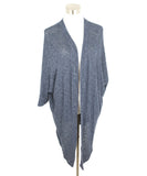 Velvet Navy Cotton Viscose Elastane Cardigan 1