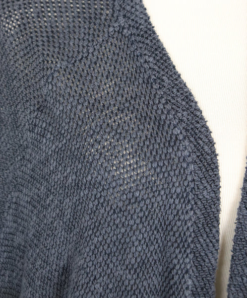 Velvet Navy Cotton Viscose Elastane Cardigan 5