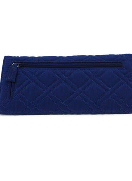 Vera Bradley Blue Quilted Nylon Wallet 2
