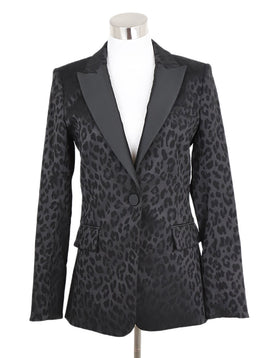 Veronica Beard Black Animal Print Jacket 1
