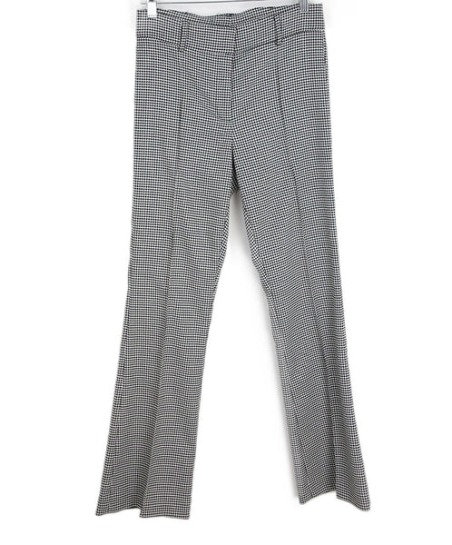 Veronica Beard Grey Houndstooth Viscose Pants 1