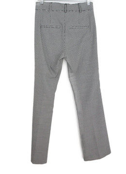 Veronica Beard Grey Houndstooth Viscose Pants 2