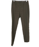 Veronica Beard Olive Green Elastane Linen Pants 1