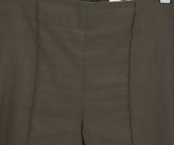 Veronica Beard Olive Green Elastane Linen Pants 4