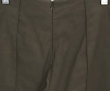 Veronica Beard Olive Green Elastane Linen Pants 5