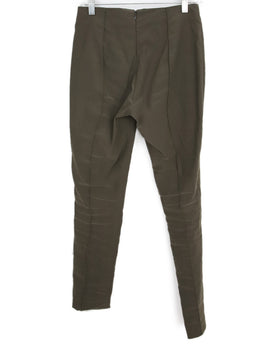 Veronica Beard Olive Green Elastane Linen Pants 2