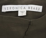 Veronica Beard Olive Green Elastane Linen Pants 3