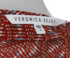 Veronica Beard Red Silk Dress with Blue and White Print 4