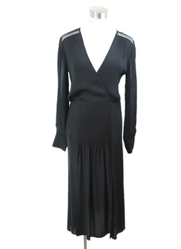 Veronica Beard Black Silk Crochet Dress 1
