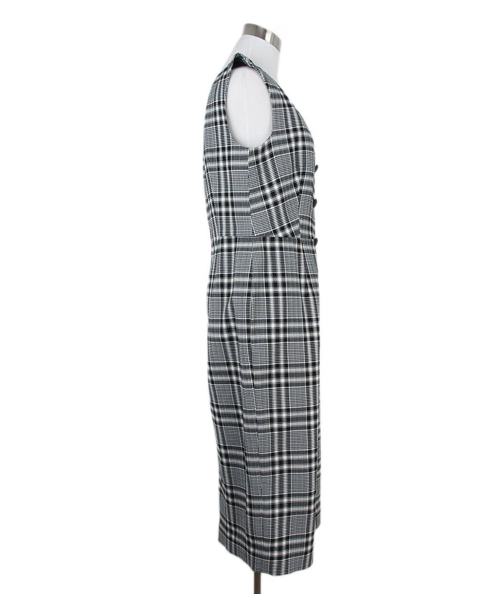 Veronica Beard black white plaid dress 2
