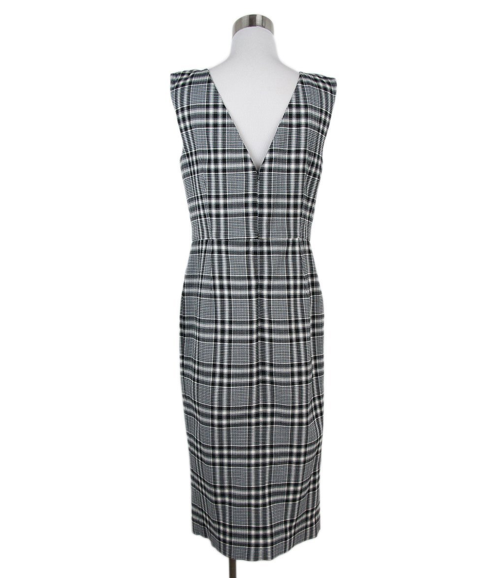 Veronica Beard black white plaid dress 3