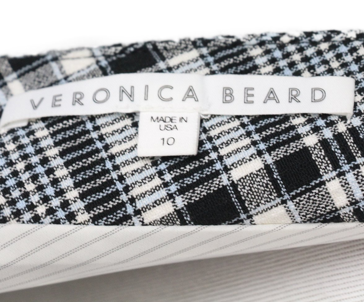 Veronica Beard black white plaid dress 4