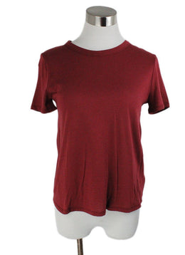 Veronica Beard Red Rust Cotton Top 1