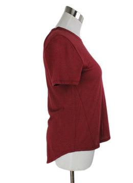 Veronica Beard Red Rust Cotton Top 2
