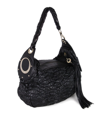 Versace Black Leather hobo Bag 1
