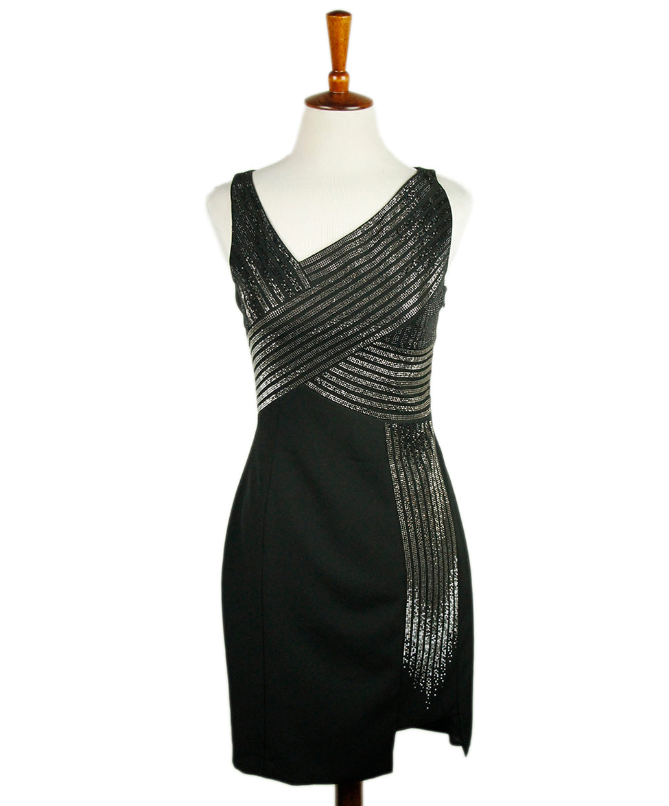 Versace Black Polyester Dress 1