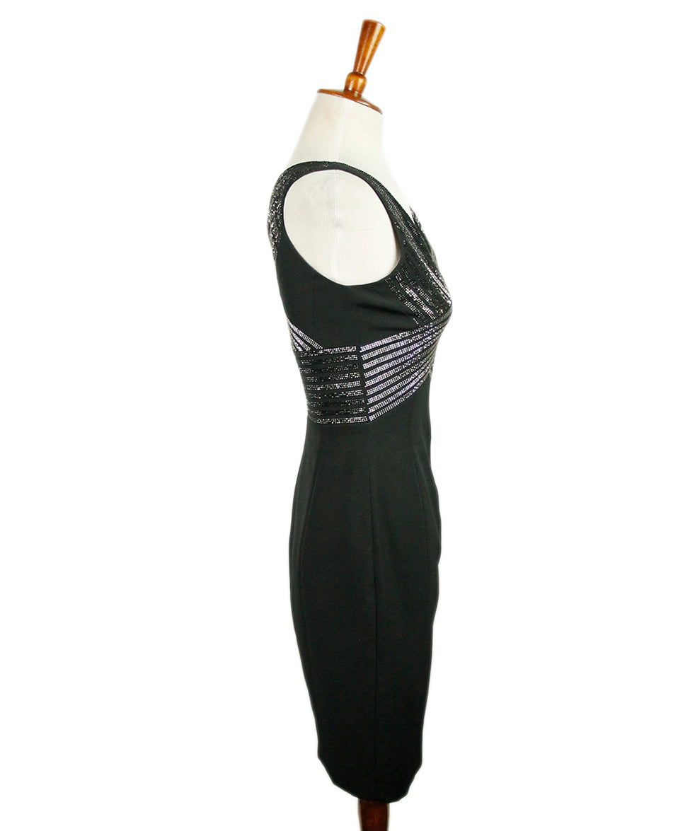 Versace Black Polyester Dress 2
