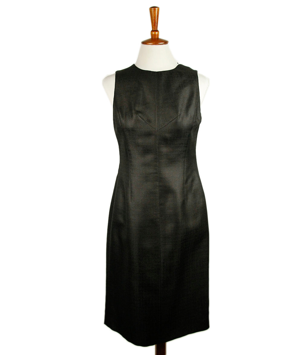 Versace Black Silk Dress 1