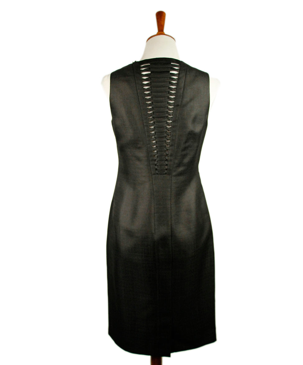 Versace Black Silk Dress 3