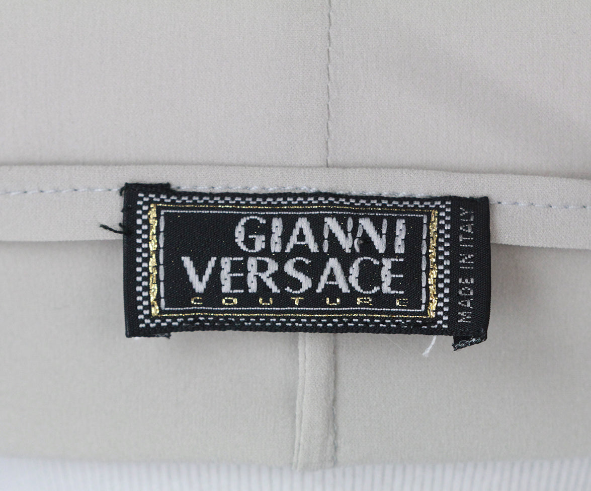 Versace Grey silk top 4