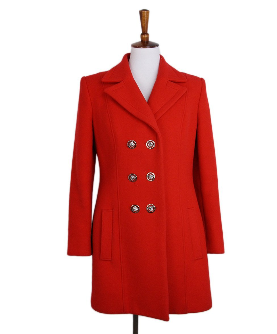 Versace Red Coat 1