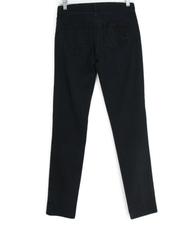 Versace black denim pants 1