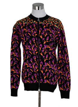 Versace Black Pink Orange Viscose Polyamide Jacket 1