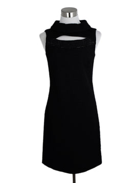 Versace Black Wool Sleeveless Dress 1