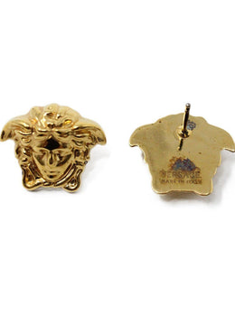 Versace Metallic Gold Jewelry Earrings 2